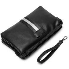 ขาย Men S Retro Leather Clutch Hand Bag Business Handbag Envelope Metrosexual Casual Mobile Phone Bag Black Intl จีน ถูก