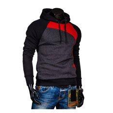 ขาย เสื้อกีฬาสีกะบุรุษมีฮู้ดเสื้อนอกรั้วชุ่มเสื้อสีแดงสีดำเทาเข้ม จีน ถูก