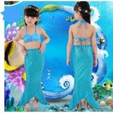 ขาย Mermaid Swiming Children B*k*n* Set ชุดนางเงือก เซ็ท 3 ชิ้น รุ่น Blue Blue สีฟ้า ฟ้า Kora ถูก