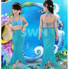 ขาย Mermaid Swiming Children B*K*N* Set ชุดว่ายน้ำ ชุดนางเงือก เซ็ท 3 ชิ้น รุ่น Blue Blue สีฟ้า ฟ้า เป็นต้นฉบับ