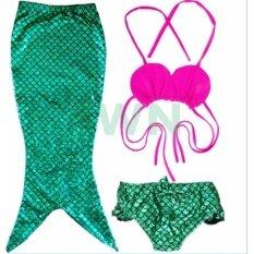 ขาย Mermaid Swiming Children B*k*n* Set ชุดว่ายน้ำ ชุดนางเงือก เซ็ท 3 ชิ้น รุ่น Pink Green สีชมพู เขียว ถูก กรุงเทพมหานคร