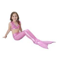 ราคา Mermaid Swimming Children B*k*n* Set ชุดนางเงือก ชุดว่ายน้ำเด็ก เซ็ท 3 ชิ้น รุ่น Special Light Pink หางแบบเปิด สีชมพูอ่อน ใหม่