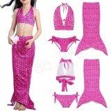 ส่วนลด Mermaid Swimming Kids ชุดว่ายน้ำ ชุดนางเงือก เซ็ท 3 ชิ้น รุ่น Dot Mermaid Pink Uraa Brand