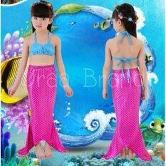 ขาย Mermaid Swimming Kids ชุดว่ายน้ำ ชุดนางเงือก เซ็ท 3 ชิ้น รุ่น Normal Blue Pink ถูก กรุงเทพมหานคร