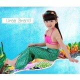 ขาย Mermaid Swimming Kids ชุดว่ายน้ำ ชุดนางเงือก เซ็ท 3 ชิ้น รุ่น Normal Pink Green ถูก กรุงเทพมหานคร