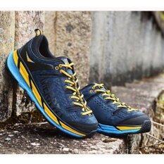 ขาย ซื้อ Merrto รองเท้าหนังแท้เกรดพรีเมี่ยม รองเท้าปีนเขา เดินป่า ผู้ชาย น้ำหนักเบา รุ่น 8619 สีน้ำเงินแถบเหลือง กรุงเทพมหานคร