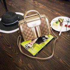 ยุโรปและอเมริกาผ้าใบไหล่กระเป๋า Messenger ขนาดเล็กถุงกระเป๋าถือสุภาพสตรี สีทอง ฮ่องกง
