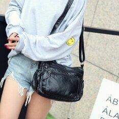 ซื้อ กระเป๋าสะพายวินเทจ ผู้หญิง สไตล์เกาหลี สีดำ สีดำ Other ถูก