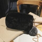 ขาย ซื้อ เก๋เกาหลีตุ๊กตาหญิงป่าถุง Messenger ถุงเล็ก สีดำ