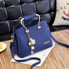 ขาย กระเป๋าสะพายไหล่สไตล์ผู้หญิงเกาหลี ศิลปะบทกวีกระเป๋าสีน้ำเงินเข้ม ศิลปะบทกวีกระเป๋าสีน้ำเงินเข้ม ฮ่องกง