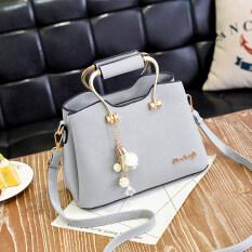 ราคา กระเป๋าสะพายไหล่สไตล์ผู้หญิงเกาหลี ศิลปะบทกวีกระเป๋าสีเทา ศิลปะบทกวีกระเป๋าสีเทา Other ใหม่