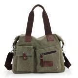 ราคา กระเป๋าสะพายข้างใช้ได้ทั้งสตรีและชายสไตล์เกาหลีแบบลำลองผ้าฝ้ายบริสุทธิ์ กองทัพสีเขียว Unbranded Generic เป็นต้นฉบับ