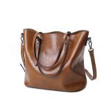 ขาย ยุโรปและสหรัฐอเมริกาลมหญิงใหม่ความจุขนาดใหญ่ของ Messenger กระเป๋าถือกระเป๋าถุงใหญ่ สีน้ำตาล ฮ่องกง ถูก