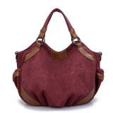 ขาย กระเป๋าหิ้ว กระเป๋าสะพายผ้าใบ ของผู้หญิงK2 สไตล์เกาหลี สีกาแฟสีม่วง สีกาแฟสีม่วง K2 ถูก