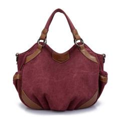 ขาย ซื้อ กระเป๋าหิ้ว กระเป๋าสะพายผ้าใบ ของผู้หญิงK2 สไตล์เกาหลี สีกาแฟสีม่วง สีกาแฟสีม่วง ฮ่องกง