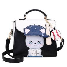 ราคา สี่เหลี่ยมเล็กๆผู้หญิงกระเป๋าเกาหลีกระเป๋าหญิงใหม่สีตี คลาสสิกสีดำ เป็นต้นฉบับ