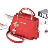 ราคา กระเป๋าถือหญิง สะพายไหล่ได้ ปักลาย แฟชั่น สีแดง สีแดง Other