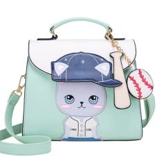 ขาย ซื้อ ออนไลน์ สี่เหลี่ยมเล็กๆผู้หญิงกระเป๋าเกาหลีกระเป๋าหญิงใหม่สีตี สีเขียวอ่อน