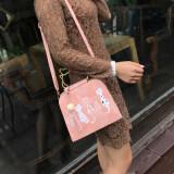 ขาย เวอร์ชั่นเกาหลีใหม่ของ Messenger กระเป๋า สีชมพู ราคาถูกที่สุด