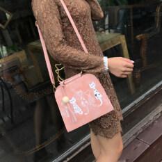 ขาย เวอร์ชั่นเกาหลีใหม่ของ Messenger กระเป๋า สีชมพู ถูก ฮ่องกง