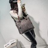 ขาย ซื้อ กระเป๋าสะพายไหล่เดี่ยวผู้หญิงMuqin สไตล์เกาหลี สีเทา สีเทา ใน ฮ่องกง