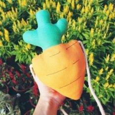 ราคา กระเป๋าสะพายไหล่รูปตุ๊กตาแครอทสามมิติ แครอทขนาดเล็กถุง Other เป็นต้นฉบับ