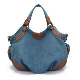 ราคา กระเป๋าหิ้ว กระเป๋าสะพายผ้าใบ ของผู้หญิงK2 สไตล์เกาหลี สีฟ้า สีฟ้า ใหม่