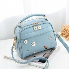 ราคา กระเป๋าสะพายสไตล์ผู้หญิงเกาหลีทรงเรโทร ป้ายกระเป๋าถือสีฟ้าอ่อน ป้ายกระเป๋าถือสีฟ้าอ่อน ออนไลน์ ฮ่องกง