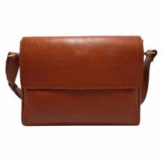 ราคา กระเป๋าสะพายข้างผู้ชาย หนังแท้ ใส่เอกสาร โน๊ตบุ๊ค ทรง Messenger รุ่น A 02 สีแทน Ninza ใหม่