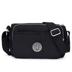 ขาย ของ Messenger กระเป๋าเกาหลีกระเป๋าไนลอนผ้า Oxford เส้นทแยงมุม สีดำ ถูก ใน ฮ่องกง