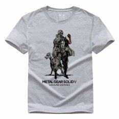 โปรโมชั่น Metal Gear Solid Printed T Shirts 001 Grey Intl Unbranded Generic ใหม่ล่าสุด