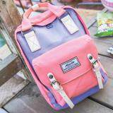 ขาย ซื้อ Mgaicstar Backpack กระเป๋าเป้สะพายหลัง Two Tone สีพาสเทล ม่วง ชมพู ใน Thailand