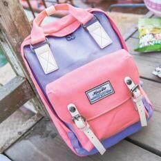 ซื้อ Mgaicstar Backpack กระเป๋าเป้สะพายหลัง Two Tone สีพาสเทล ม่วง ชมพู ใน Thailand