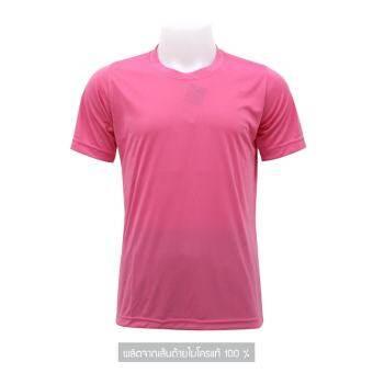 Mheecool เสื้อคอกลมสีชมพู-