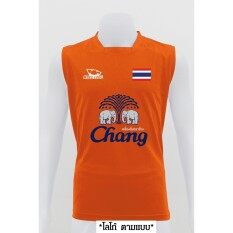 Mheecool เสื้อเเขนกุด PROสีส้มLOGO