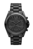 ขาย Michael Kors Bradshaw Chronograph Black Dial Black Ion Plated Unisex Watch Stainless Strap รุ่น Mk5550