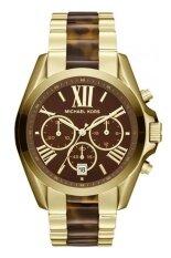ซื้อ Michael Kors Bradshaw Chronograph Tortoiseshell Ladies Watch Mk5696 Gold ใหม่