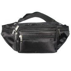 ราคา กระเป๋าซิปซองบัมไมโครไฟเบอร์เที่ยวท่องเที่ยวเอวเข็มขัดกระเป๋าสีดำ ใหม่