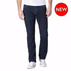 ซื้อ กางเกงยีนส์ กระบอกเล็ก สี Mid Night ผ้าฟอก นุ่ม 100 Cotton ใน กรุงเทพมหานคร