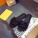 โปรโมชั่น Might Sight 2017 Fashion With Drill Female Slippers Sandals(Black) Intl Unbranded Generic ใหม่ล่าสุด