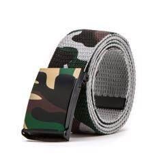 ขาย เข็มขัดผู้ชาย เข็มขัด ผู้ชาย ลายทหาร Military Camo Us Army Style Webbing Camouflage Automatic Canvas Trouser Belt Gray ราคาถูกที่สุด