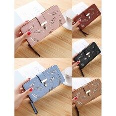 ราคา Miss Fashion Lady Women Clutch Leather Long Wallet Card Holder Purse Handbag Bag With Zipper เป็นต้นฉบับ