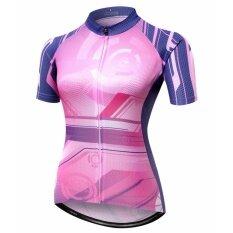 ทบทวน Mitisports ผู้หญิงขี่จักรยาน Jersey Dry Fit ชุดปั่นจักรยาน
