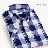 ขาย Mjx เสื้อลายสก๊อตแขนสั้นแบบนักธุรกิจชายสไตล์เกาหลี 6607 6607 ออนไลน์ ฮ่องกง