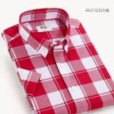 ขาย ซื้อ ออนไลน์ Mjx เสื้อลายสก๊อตแขนสั้นแบบนักธุรกิจชายสไตล์เกาหลี 6622 6622