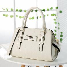 ขาย ซื้อ ป่าญี่ปุ่นและเกาหลีใต้ไหล่แบบพกพาแฟชั่นผู้หญิงกระเป๋าถุงใหญ่ สีขาว ใน ฮ่องกง