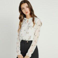 ขาย ซื้อ Modengmeimei ป่าหญิงแขนยาวใหม่เสื้อชีฟองเสื้อ สีขาว