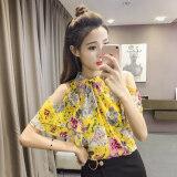 ราคา Modengmeimei เสื้อชีฟองเกาะอกแขนสั้นทรัมเป็ตแขนเสื้อฤดูร้อนหญิง สีเหลือง ฮ่องกง