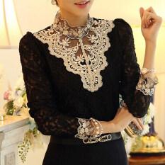 ราคา Moon Sunday Women S Long Sleeve Fashion Solid Color Plus Size Loose Casual Chiffon T Shirt Top Blouse Intl เป็นต้นฉบับ Moon Sunday