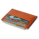 ซื้อ Moonar แฟชั่นทั้งชายและหญิงบัตรธุรกิจบัตรเครดิตหนังหนังเทียมเนื้อลิ้นจี่ที่เก็บบัตรรูปแบบเคส